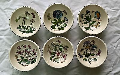 "PORTMEIRION BOTANIC GARDEN FRUIT SALAD DESSERT CEREAL BOWLS 5.5"" (14 cm) NEW"
