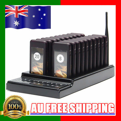 20/10 Restaurant Pager Guest Call Wireless Paging Queuing Calling System AU!!!