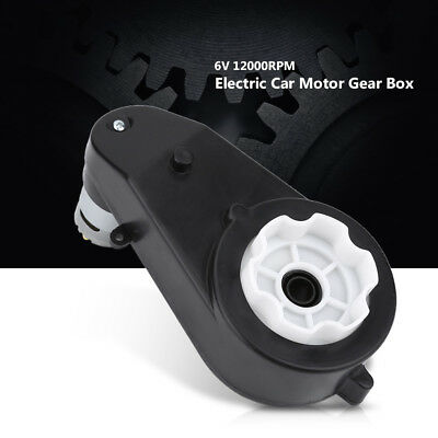 6V/12V 8000-23000 RPM Electric Low Noise Motor Gear Box for Kids Car Bike Toy GL