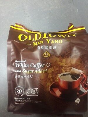 Old Town Instant White Coffee Nan Yang White Coffee O with Sugar 30G x20 Sachets