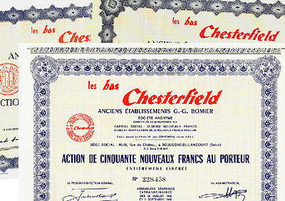 Lot: Les Bas Chesterfield 1957+1959+1960