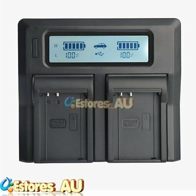 LCD Dual Channel Battery Charger For Olympus BLN-1 OMD M-5 E-M5 EM5 II EM1 E-M1