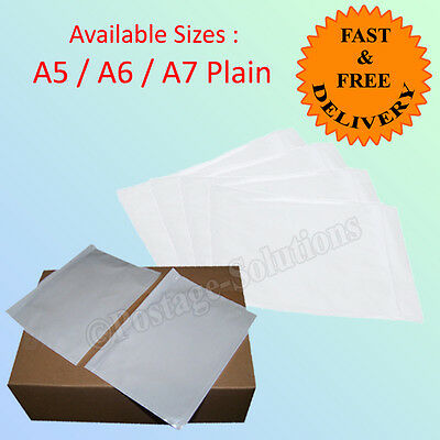 DOCUMENT ENCLOSED PLAIN WALLETS ENVELOPES Pockets A5 A6 A7 sizes Good Quality
