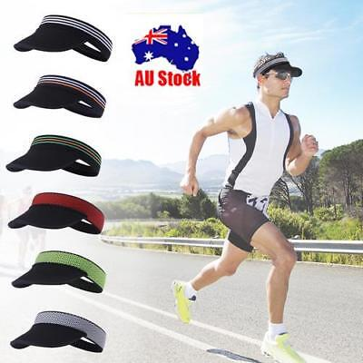 Men Women Outdoor Workout Running Jogging Sweatband Sun Visor Hat Sport Caps