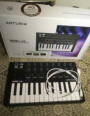 Arturia Minilab Mark ii 2 Black Edition As New With Box Cable
