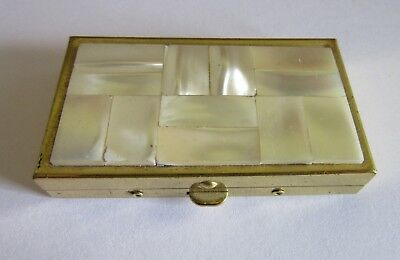 Vintage/Antique French Mother of Pearl Pill Box / Little Box