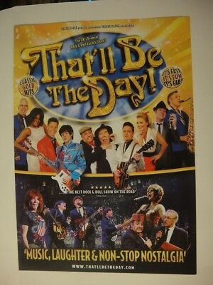 That'll Be The Day Tribute Show - Spring 2018 Tour
