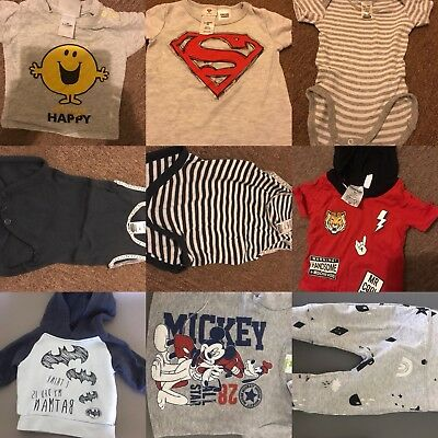 Bulk Clothes Baby 000 Unisex Boys Girls Clothing pick and choose any 9 items