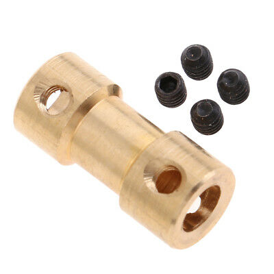 Brass Flexible Shaft Coupling Motor Coupler Connector 2-6mm RC Models Accs
