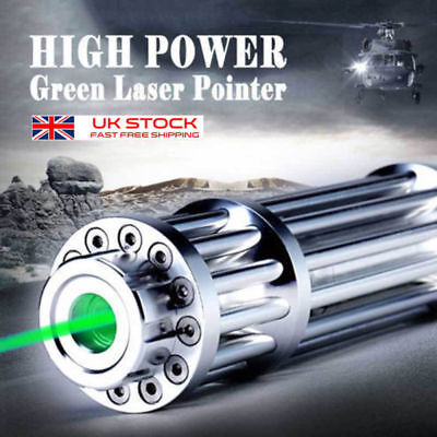 High Power Military Laser Pointer Pen Green 1MW 532nm Militar Burning Beam UK