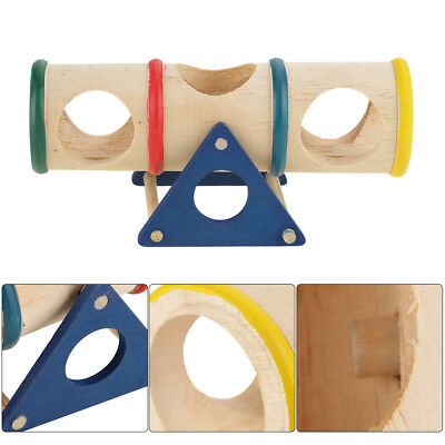 Wooden Colorful Seesaw Cage House Hide Play Pet Toys For Hamster Rat Mice AM