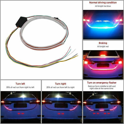 Impermeabile LED Car Trunk Lighting 3 Color Strip Car Flessibile decorativo