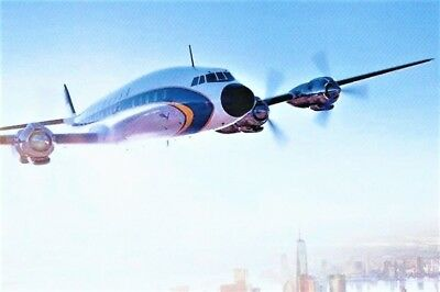 AK Airliner Postcard LUFTHANSA Lockheed L-1649 Super Star Constellation