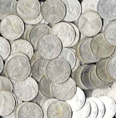 AUSTRALIA 1966 50c ROUND SILVER COINS QUALITY VERY FINE+ to EXTREMELY FINE+ x100