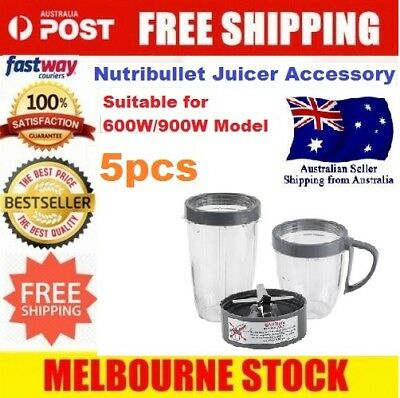 Tall Cup/Lids/Extractor Blade Accessory Kit FOR Nutribullet Blender AU STOCK
