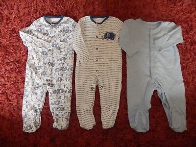 Baby Boys Sleep Suits ~ Size 3-6 Months ~ Vgc ~ Ref Box A3