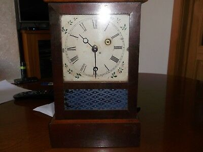 Ansonia antique clock, eight and one day, brass clock company usa