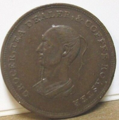 1839, UF-3040, Unofficial Farthing, Middlesex, London, Thos. Wright, Tea Dealer