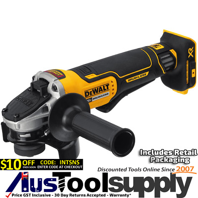 Dewalt Xr  Brushless 18V / 20V Maxcordless Grinder 115Mm Paddle Switch  Dcg413
