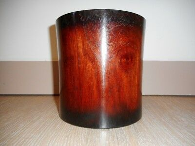 Chinese Carved rosewood Brushpot bitong pot a pinceaux bois rose palisandre pen