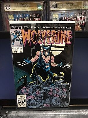 1988 Wolverine #1 Regular Series Signed By Chris Claremont X-men