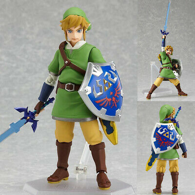 The Legend of Zelda Skyward Sword Link 6'' Action Figure PVC Model Figma Gift