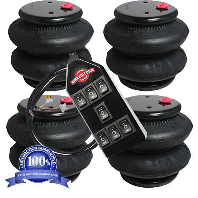 "air ride suspension air bags four 2600 1/2""npt port air spring & 7-Switchbox"