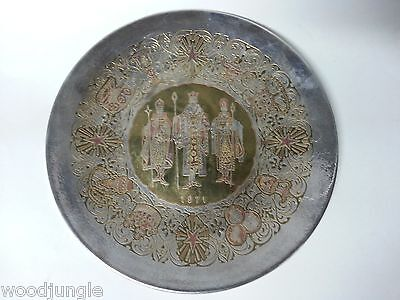 Vintage REED & BARTON LIMITED SILVERPLATED CHRISTMAS PLATTER 1971 SILVER PLATE