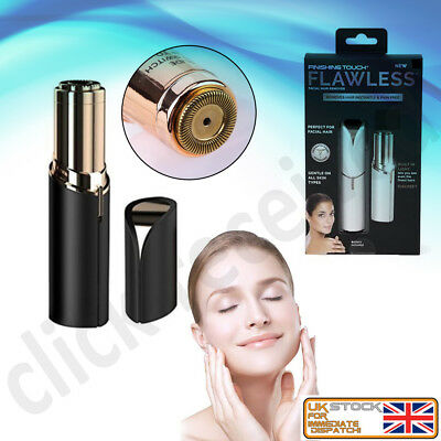 Facial Hair Remover Face Hair Removal Epilator Painless 18K Gold Plated Clipper