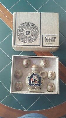 """Vintage Anheuser-Busch 1976 Ceramarte 7"""" Decanter Set With Stopper and 6 Cups"""
