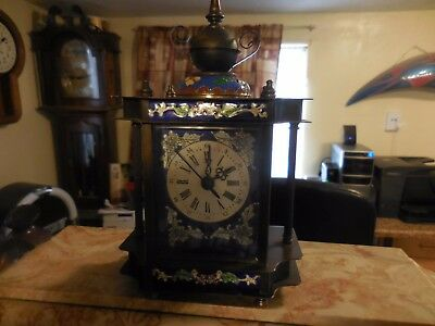 1889 Chinese the French antique hand painted enamel Colors Clock