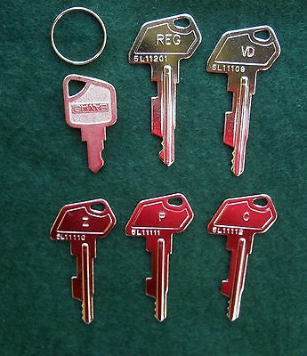 Kassenschlüssel, Registrierkasse, Multidata,Sam4s, uvm.Set of Cash Register Keys