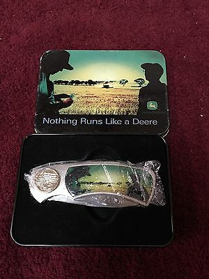 John Deere Pocket Knife with Collector Tin