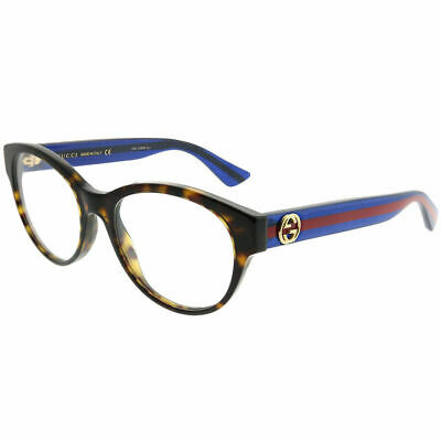 New Authentic Gucci GG0039O 003 Dark Havana Plastic Round Eyeglasses 52mm b47b328d6ba