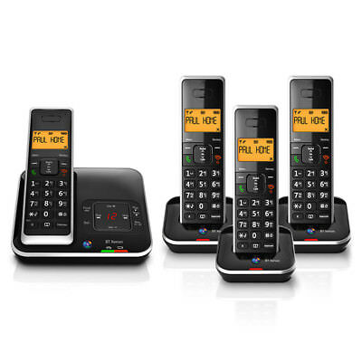 BT Xenon 1500 Cordless Telephones with Answering Machine - Quad, Home Phone