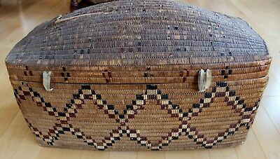 Antique First Nations / Native Salish Thompson River Basket Late 1800 's Rare