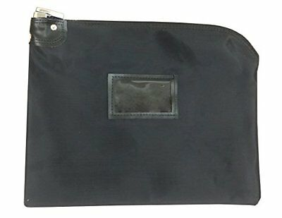 Locking Document HIPAA Bag 15 x 19   Legal Size Records Courier Bag  (Black)