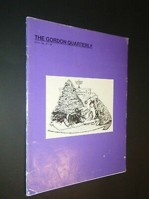 The Gordon Quarterly Winter 1986-89 Photograhs & Articles Laura Bedford Cover