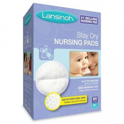 Lansinoh Stay Dry Disposable Nursing Pads, Natural Fit, One Size, Baby Care