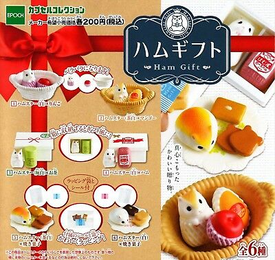 Epoch Capsule Toy Ham gift complete 6 set hamster Figures Gashapon From Japan