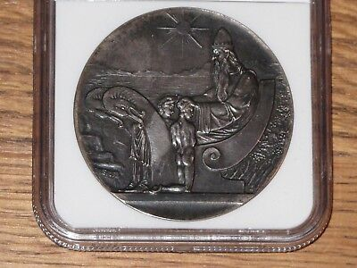 Iceland Medallic 1000 Years Althing Silver 10 Kronur 1930 UNC ,NGC MS61