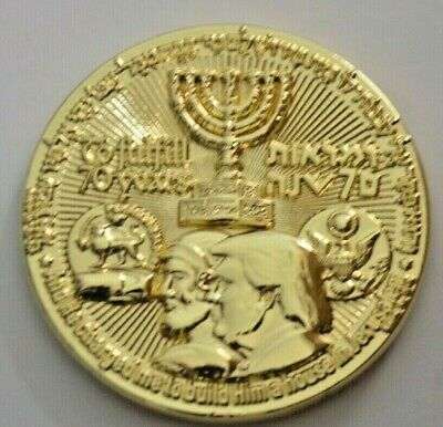 2018 70 Yrs King Cyrus Donald Trump Jewish Temple Coin authentic Big Sale WOW