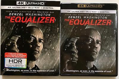 The Equalizer 4K Ultra Hd Blu Ray 2 Disc Set + Slipcover Sleeve Free Shipping