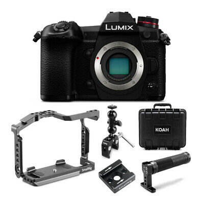 Panasonic Lumix G9 20.3MP Mirrorless Camera (Body Only, Black) Cage Bundle