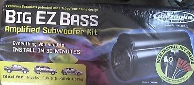 Incredible Bazooka Big Ez Bass Amplified Subwoofer Kit W Enrock Audio 8 Gauge Wiring Database Aboleterrageneticorg