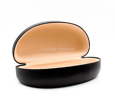 Sunglass Hard Case Clamshell & Cleaning Cloth ~ Large Size ~ NEW