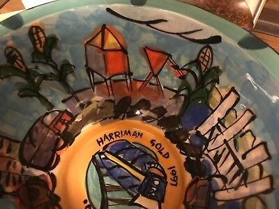 Illinois Central Railroad Ceramic Harriman Bowl Employee Gift Collectable Bowl