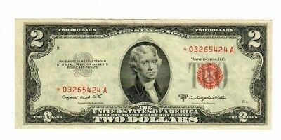 1953-B *star* $2.00 United States Note (Red Seal)  ***star***note