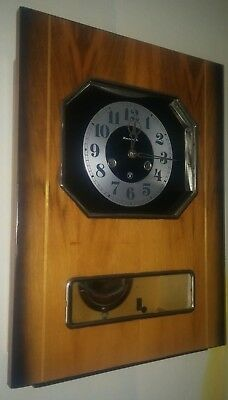 MINT! Vintage Old USSR Mechanical Grandfather's Wall Clock with Chime