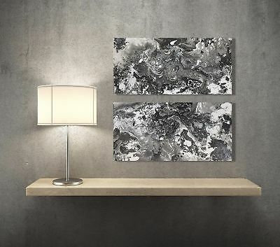 Large Modern Abstract Painting Original contemporary Wall Art Black White Canvas